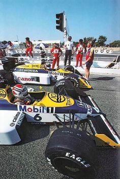 #Nelson Piquet vs Nigel Mansell - 1986 #Williams FW11