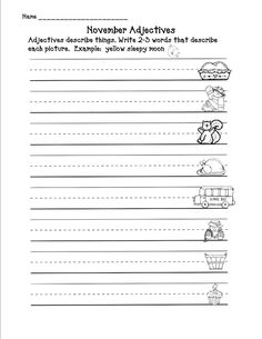 What is an Adjective? Free Printables | Them, Examples and An