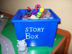 Pick a character out of the box and create a story.