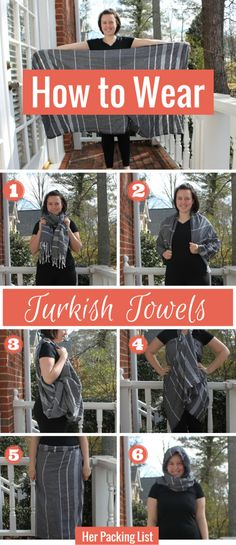 Turkish towels are the best travel towels... why? Because you can also do this with them!