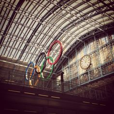 King's Cross station is ready for the olympics, London 2012.