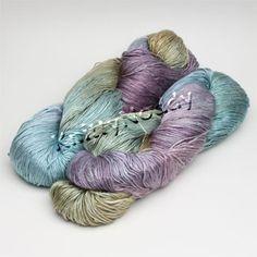Too Yummy!!  Hand Maiden Sea Silk, by Hand Maiden Fine Yarn. Gotta have it!