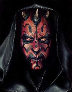 Cool illustration of the coolest Sith. Darth Maul by Brent Schreiber