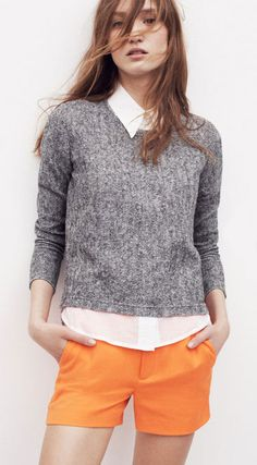 I love the orange and grey color combo