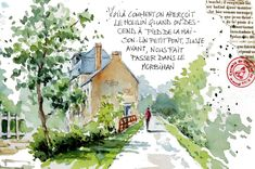 BB-Aquarelle Travel Sketchbook, Watercolor Sketchbook, Nature Journal, Urban Sketching, Watercolor Landscape, Journal Pages, Illustrations, Love Art, Gouache