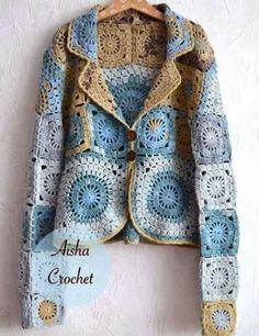 Ideas crochet jacket pattern granny square for 2019 Crochet Bolero, Crochet Jacket Pattern, Pull Crochet, Gilet Crochet, Crochet Coat, Crochet Cardigan, Crochet Clothes, Crochet Vests, Booties Crochet