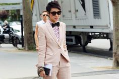 Honestly, nobody pulls off a tailored suit more effortlessly than Esther Quek, the fashion director at classic menswear magazine The Rake.