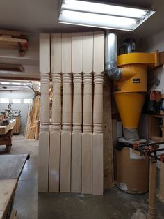 """These posts are 7"""" wide x 9' tall. Our Urban pattern. Porch Posts, Divider, Urban, Wood, Pattern, Furniture, Home Decor, Decoration Home, Woodwind Instrument"""