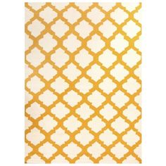 Flat Weave Quatrefoil Rug Gold Ivory ($185) ❤ liked on Polyvore featuring home, rugs, designer rugs, cream rug, hand knotted rugs, modern area rugs, kilim rug and beige area rug
