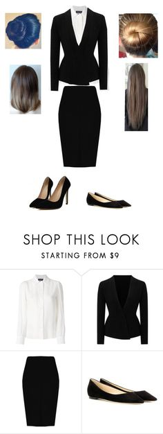 """Ready For My Interview!"" by prettyfallenangel ❤ liked on Polyvore featuring Vanessa Seward, Roland Mouret, Boohoo and Jimmy Choo"