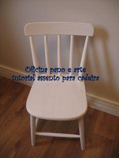 escolha a cadeira e faça o molde do assento.