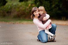 Natural Mom and Daughter pose.