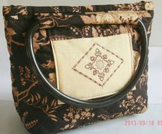 Quilted Purse  Handbag  Small Tote  Embroidered by belairevillage, $39.50