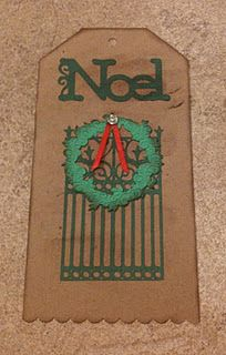 Christmas Gift Tag, Ornamental Iron Cricut Cartridge