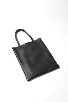 """黑色鵝卵石皮革手提包,基本手提袋,購物袋""""艾瑪基本手提包"""""""