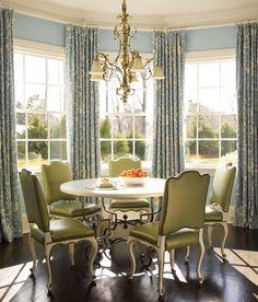 Bay window and window treatments