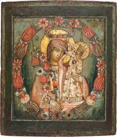 """Икона Божией Матери """"Неувядаемый цвет"""", около 1700 век bogoroditsa-176.jpg (768×895)"""
