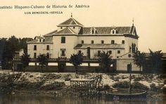 FOTOGRAFIA ANTIGUA SOBRE POSTAL-INSTITUTO HISPANO-CUBANO DE AMERICA-LOS REMEDIOS -SEVILLA - Foto 1