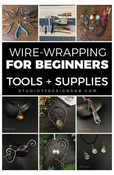 Wire Jewelry Designs, Handmade Wire Jewelry, Jewelry Crafts, Wire Crafts, Diy Jewelry Making Tools, Beaded Jewelry, Design Your Own Jewelry, Wire Jewellery, Rock Jewelry
