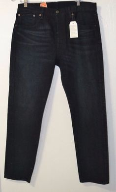 NWT LEVIS 501ct Customized Tapered Button Fly Black Jeans 32x32 STYLE #181730032 #Levis #ButtonfitTaperedleg