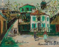 Maurice Utrillo (1883-1955) | Rue de Montmartre | Paintings, oil ...