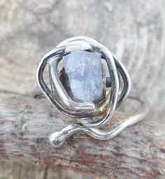 Rough Tanzanite Ring. Tanzanite  And Sterling Silver by Unics