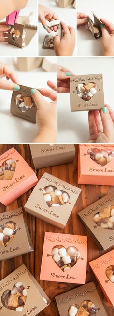 Hochzeit – Adorable idea for s'mores wedding favors – so unique! Free design too Geschenk Hochzeit – Adorable idea for s'mores wedding favors – so unique! Free design too! Wedding Favors And Gifts, Smore Wedding Favors, Unique Party Favors, Wedding Favours Unique, Handmade Wedding, Inexpensive Wedding Favors, Wedding Favor Boxes, Door Gift Wedding, Wedding Souvenirs For Guests Unique