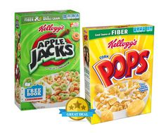 Publix Deal Alert - Kellogg's Apple Jacks or Corn Pops Cereals just $1.11 a box after sale & printable coupons. Valid 9/6 through 9/12 (9/7 - 9/13)! #coupon #deals #grocery #stores #kids #cereals #breakfast