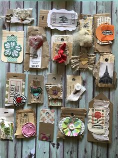 New Pictures junk journal Embellishments Thoughts Crocheting minimal patterns is a wonderful way to generate your personal custom gadgets – brooches plus pin Handmade Journals, Handmade Books, Vintage Tags, Vintage Paper, Journal Cards, Junk Journal, Glue Book, Handmade Tags, Junk Art