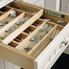 Drawer Dividers - use stacked dividers to optimize storage space in drawers | 7 Clever Storage Ideas for a Small Kitchen