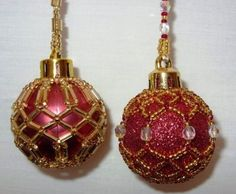 ... PATTERN ONLY Beaded Baby or Mini Christmas Ornament Cover Pattern No