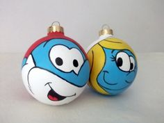 Hey, I found this really awesome Etsy listing at https://www.etsy.com/listing/168700448/papa-smurf-smurfette-hand-painted