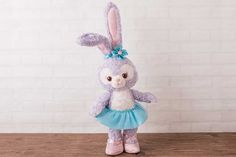 "Disney Mickey Duffy friend Stella Lou 14/"" in Denim Costume Plush Doll From USA"