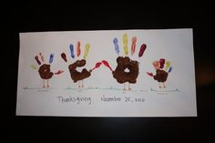 Family turkey picture. If your children are still young, take the time to do this.