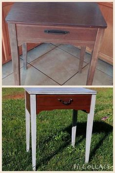 Sewing cabinet I revived with stain, chalk paint, soft wax, dark wax and new hardware!