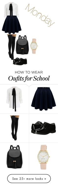 """Private school part 1"" by skylarmuffin on Polyvore featuring Michael Kors, Bates and Nine West"