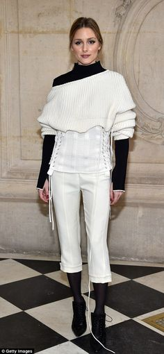 Olivia Palermo attended Christian Dior Spring 2017 Couture show on January 23, 2017 in Paris