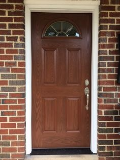Installed by Chapman Windows, Doors & Siding. Grand Entrance, Tall Cabinet Storage, Windows, Doors, Furniture, Home Decor, Decoration Home, Room Decor, Home Furniture