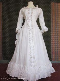 """victorian house coat or """"Négligé"""" - Napoléon III Era - Circa 1850/1870 France"""