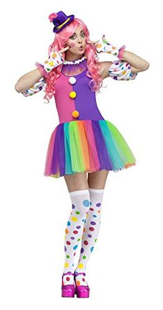 Fun World Costumes Women's Clownin' Around Adult Costume, Purple/White, Medium/Large Fun World Costumes http://www.amazon.com/dp/B00K44GYQG/ref=cm_sw_r_pi_dp_SoXoub0BJ0MMY