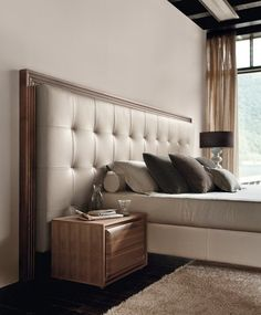 While glittering living rooms and blinding entryways are often the rule, Luxury Master Bedroom interior design is more restrained. Bedroom Bed Design, Bedroom Sets, Home Bedroom, Modern Bedroom, Bedroom Decor, Master Bedrooms, Wall Mounted Headboards, Headboards For Beds, Bedroom Furniture
