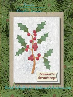 Green Desserts, Leaf Outline, Leaf Texture, Holly Berries, Basic Grey, Winter Scenes, Paper Background, Watercolor Paper, Tuesday