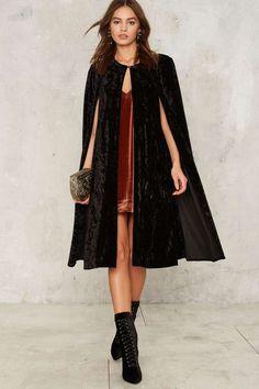 Don't Fear the Reaper Velvet Cape Blazer - Clothes | Valentine's Day | Blazers + Capes
