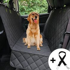Quilted Dog Car Seat Cover w/ Side Flap Pet Front & Backseat for Car Truck SUV