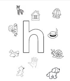 letter h. Writing Worksheets, Alphabet Worksheets, Preschool Worksheets, Craft Activities For Kids, Teaching Letters, Preschool Letters, Preschool Classroom, Pre Writing, Writing Skills