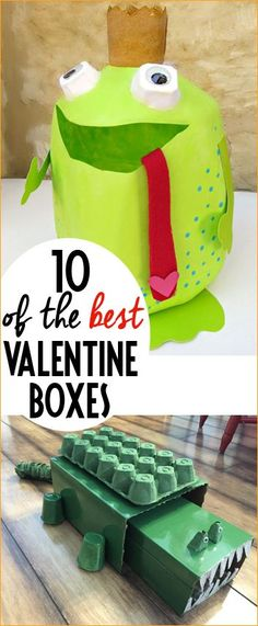 Top 10 Valentine Boxes.  Easy to assemble animal Valentine boxes.  Valentine boxes for boys and girls.  DIY Valentine boxes.  Best Valentine boxes ever!
