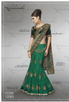 Nakkashi Exclusive green Coloured Fancy Designer Saree