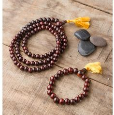 A mala is a long strand of 108 beads that you can use to enhance your meditation practice. Instead of focusing on the number of times you repeat your mantra, you can use your mala to keep count so that you can focus your mantra's meaning.