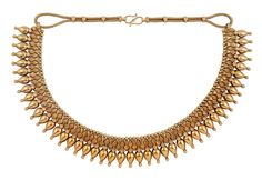 Lot 343 - COLLANA INDIANA IN ORO GIALLO INDIAN GOLD NECKLACE