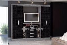 placard,ropero 4 puertas,espacio para tv y cajones Bedroom Furniture, Locker Storage, Tv, Desk, Bed Room, Closets, Home Decor, Silver, Bedroom Cabinets
